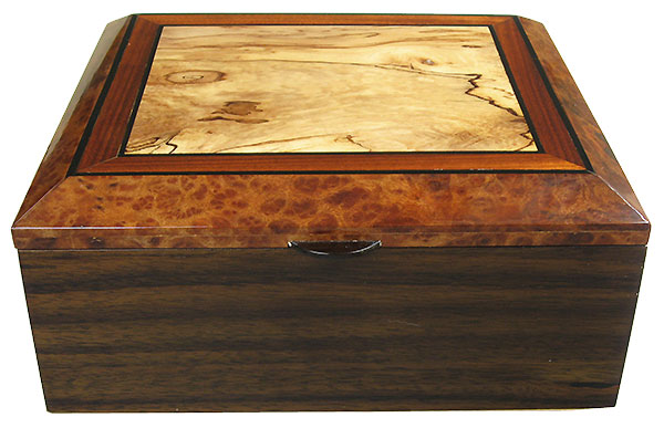 Indian rosewood box front - Handrafted decorative wood men's valet box