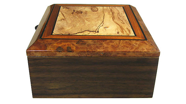 Indian rosewood box side - Handcrafted decorative wood men's valet box