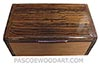Handmade wood box - Decorative wood men's valet box, keepsake box made of Mexican bocote, Pear wood