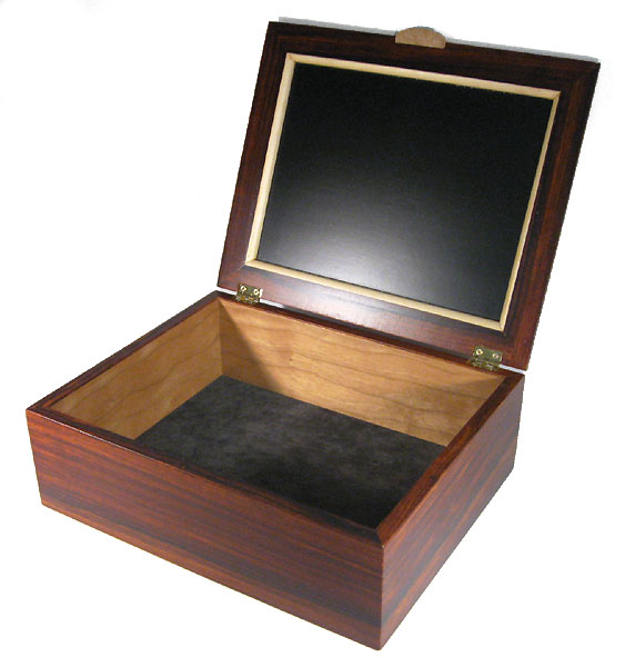 Cocobolo men's valet box open view
