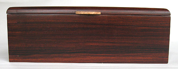 Cocobolo box front view - Handmade man's valet box