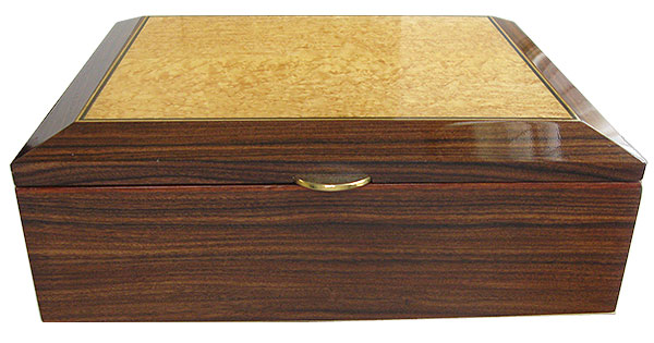 Santos rosewood box front - Handcrafted large wood box - Decorative wood valet box, keepsake box, letter size document box
