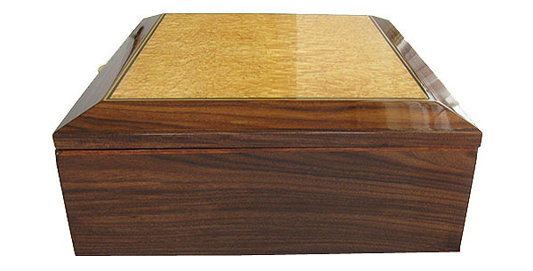 Santos rosewood box end - Handcrafted large wood box