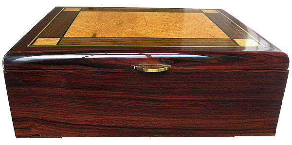 Handmade cocobolo wood box - Front view
