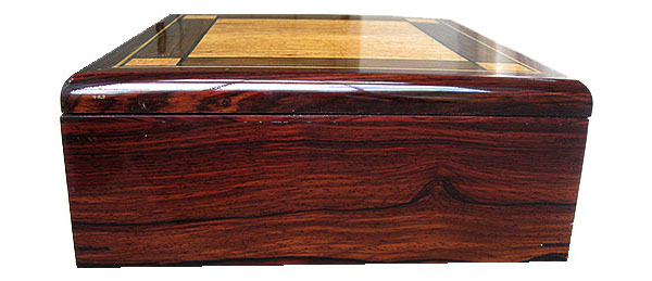Handmade cocobolo wood box  side view - Decorartive valet box, keepsake box