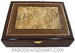Handmade large wood box - Decorative large wood men's valet box, keepsake box, document box made of cocobolo with spalted maple burl center piece box top