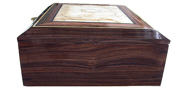 Santos rosewood box end - Handcrafted large wood box - Decorative wood men's valet box