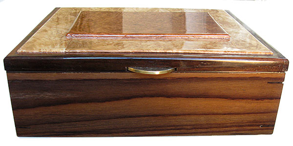 Santos rosewood box front - Handcrafted large wood box