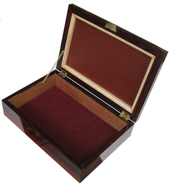 Handcrafted wood box - Large mens valet box made of cocobolo
