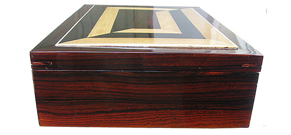 Cocobolo box side - Handcrafted wood box