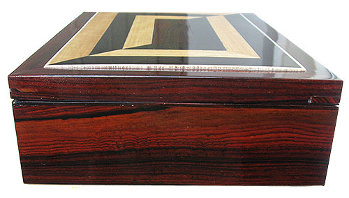 Cocobolo box end - Handcrafted large wood box