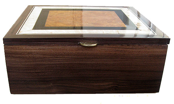 Santos rosewood box front - Handmade large wood box