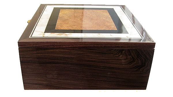 Santos rosewood box side - Handmade large wood box