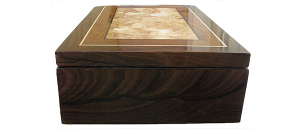 Ziricote box side - Handcrafted wood box