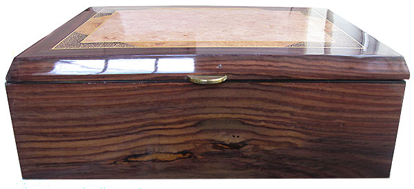 East Indian rosewood box front - Handcrafted large men's valet box