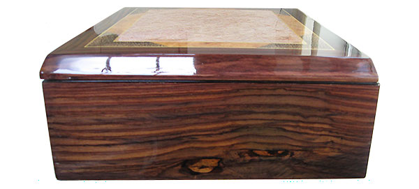 East Indian rosewood box side - Handcrafted large men's valet box