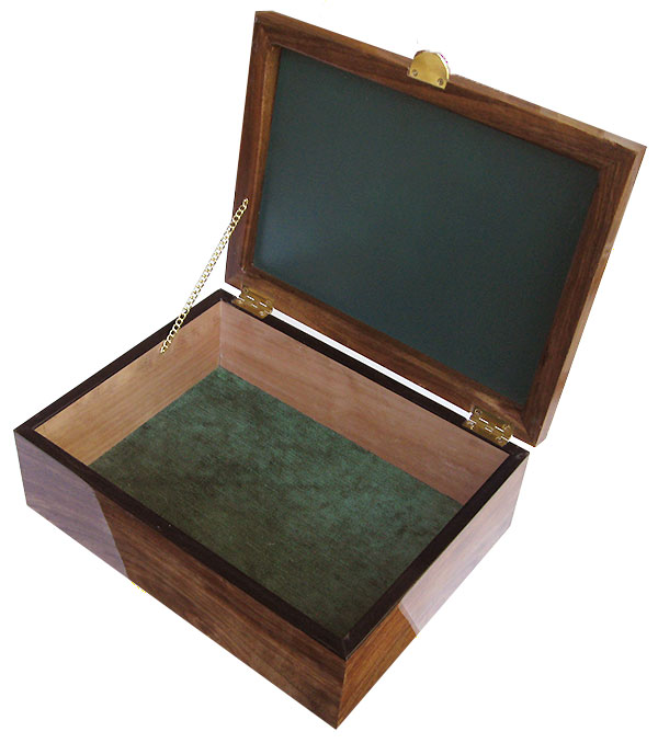 Handcrafted large woox box - open view