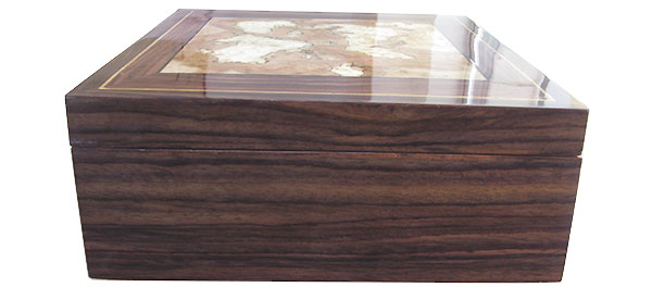 East Indian rosewood box side - Handcrafted wood box
