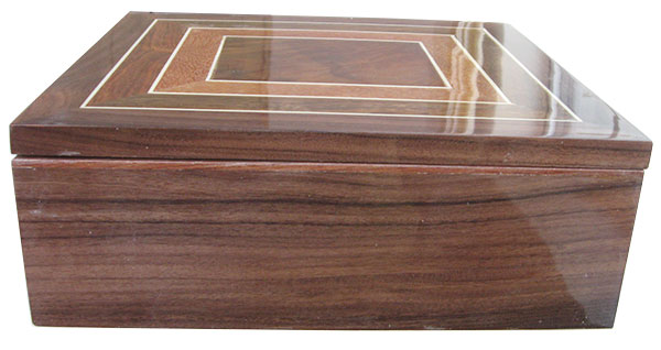 Bolivian rosewood box front - Handcrafted wood box