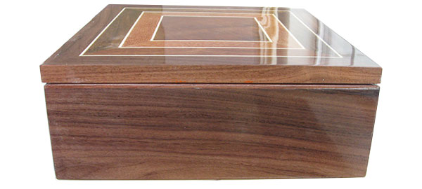 Bolivian rosewood box side - Handcrafted wood box