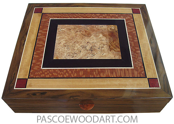 Handcrafted large wood box - Men's valet box, documeent box made s