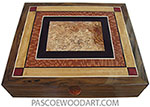 Handcrafted large wood box - Men's valet box, document box VL-31