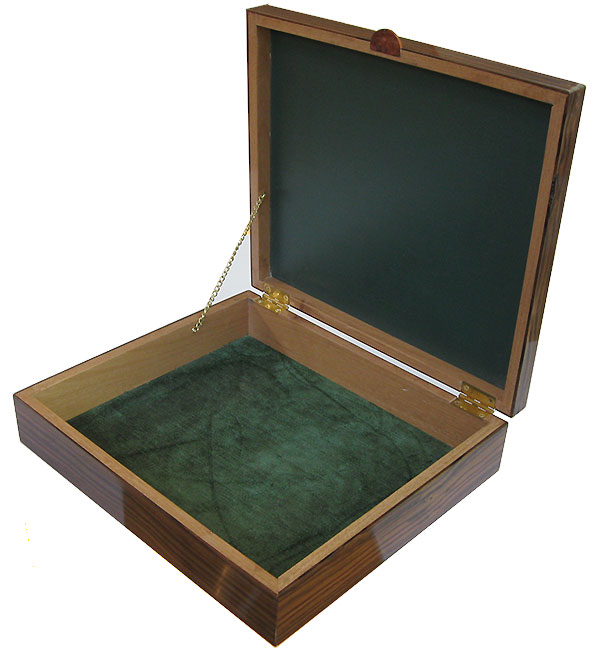 Handcrafted large wood box- Open view