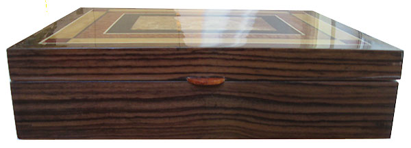 Indian rosewood box front - Handcrafted large wood box