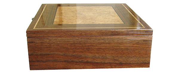 Claro walnut box side - Handcrafted large wood men's valet box