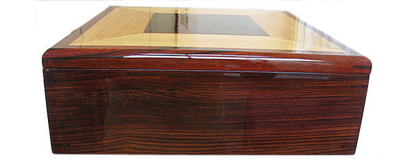 Cocobolo box end - Large handmade men's valet box, document box