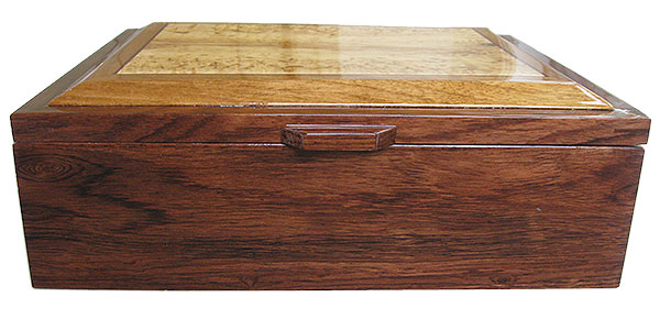 Honduras rosewood box front - Handcrafted large wood box - Decorative wood men's large valet box
