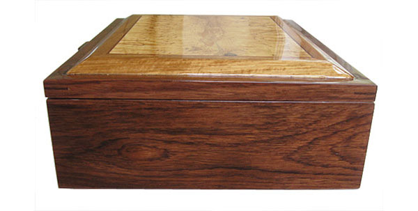Honduras rosewood box side - Handcrafted decorative large men's valet box
