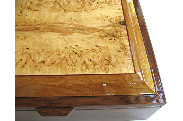 Masur birch framed box box - Handcrafted large wood box - Decorative wood large men's valet box