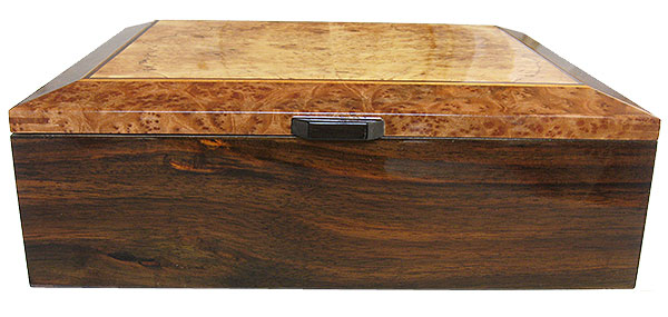Indian rosewood box front - Handcrafted large wood box - Decorative men's valet box, large keepsake box