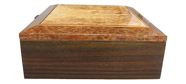 Indian rosewood box side - Handcrafted large wood box - Decorative wood men's valet, large keepsake box