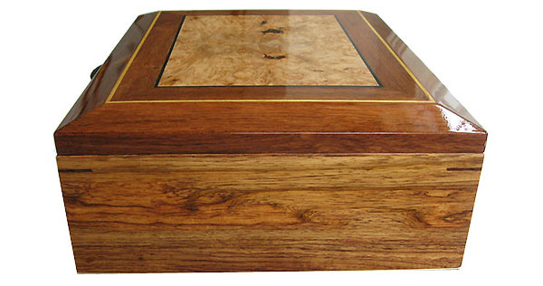 Honduras rosewood box end - Handcrafted large men's valet box, keepsake box