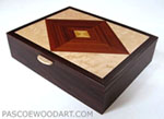 Handcrafted keepsake box made from kamagong wood, east Indian rosewood