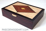 Handmade wood man's valet box