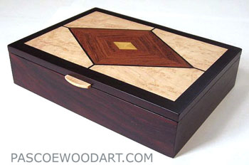 Handmade wood man's valet box. keepsake box