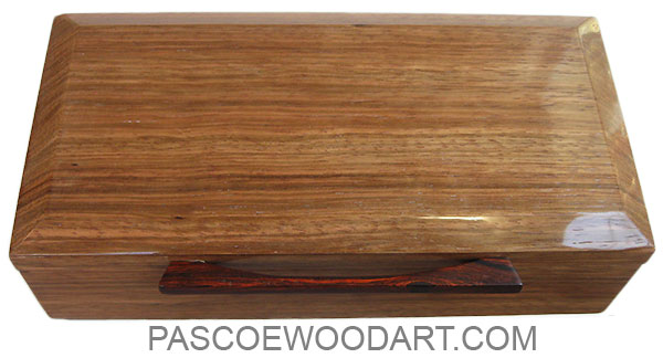 handmade wood box decorative menu0027s valet box made of bengi with cocobolo handle