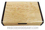 Decorative wood wallet box - Handmade small wood box made of masur birch, cocobolo