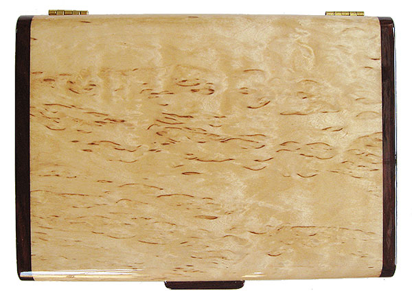 Masur birch box top - handmade slim wood box - Decorative wallet box, pen box
