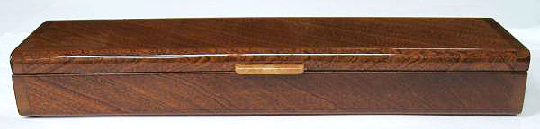 Weekly pill organizer handmade of sapele wood - front view