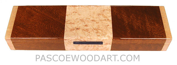 Decorative wood weekly pill box - Handmade 7 day pill organizer made of sapele, birds eye maple