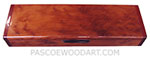 Handmade decorative wood weekly pill box made of bird's eye redwood with bloodwood ends