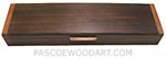 Handmade wood decorative weekly pill box made of kamagong, walnut, Honduras rosewood