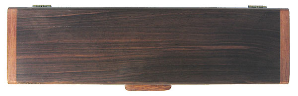 Handmade wood weekly pill box - Decorative wood 7 day pill organizer- Kamagong box top