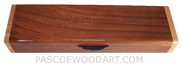 Handmade wood weekly pill box - Decorative wood pill box made of knobthorn, figured maple, ebony