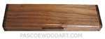 Handcrafted decorative wood weekly pill box made of Eastern walnut with walnut burl ends