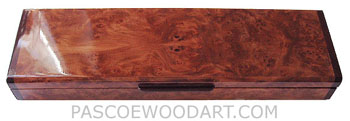 Handcrafted wood weekly pill box - Decorative wood 7 day pill organizer made of redwood burl with bois de rose ends